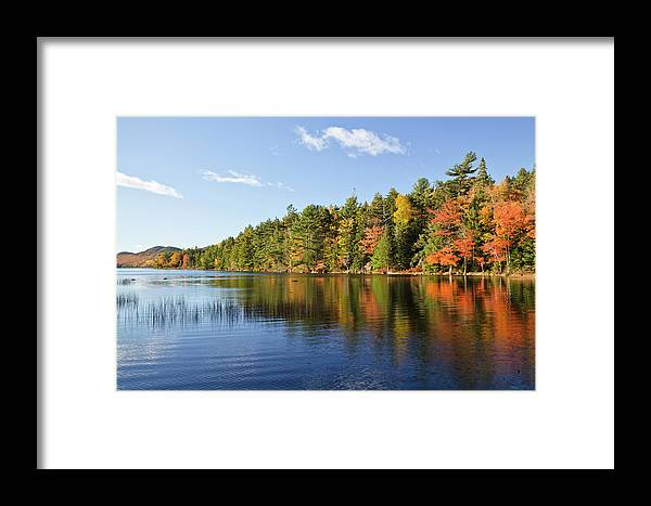 Scenics Framed Print featuring the photograph Eagle Lake Autumn Morning, Acadia by Picturelake