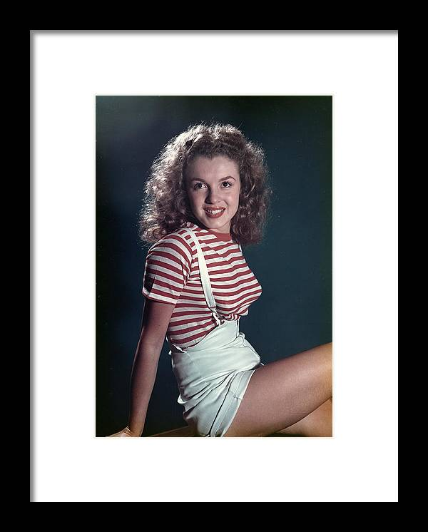 Marilyn Monroe Framed Print featuring the photograph Early Marilyn Portrait by Michael Ochs Archives