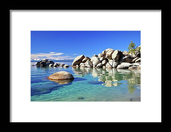 Tranquility Framed Print featuring the photograph East Shore, Lake Tahoe, Nv by Stevedunleavy.com