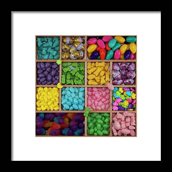 Unhealthy Eating Framed Print featuring the photograph Easter Candies by Lisa Stokes