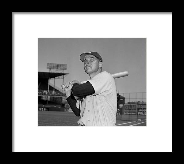 American League Baseball Framed Print featuring the photograph Eddie Robinson by New York Daily News