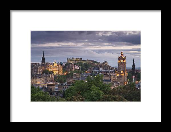 Lothian Framed Print featuring the photograph Edinburgh At Dusk by Northlightimages
