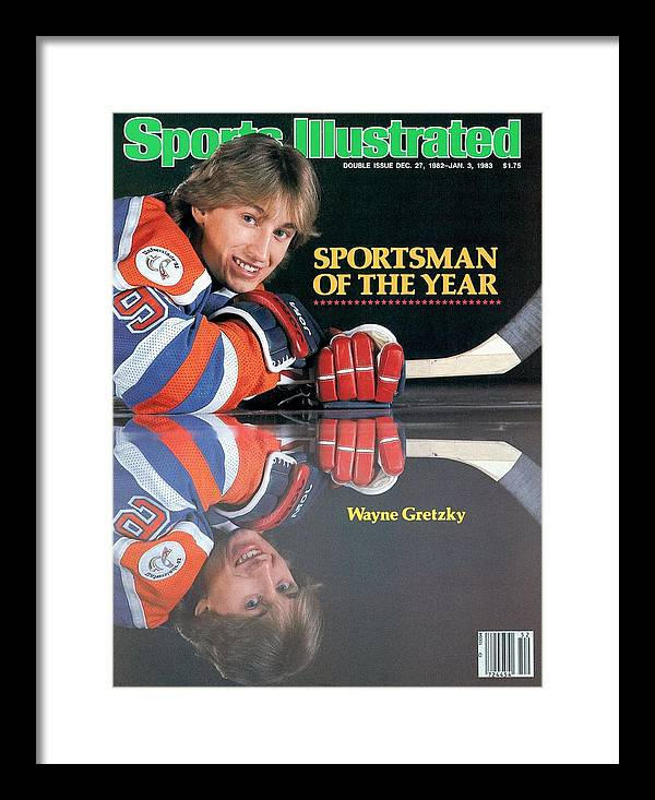 Magazine Cover Framed Print featuring the photograph Edmonton Oilers Wayne Gretzky, 1982 Sportsman Of The Year Sports Illustrated Cover by Sports Illustrated