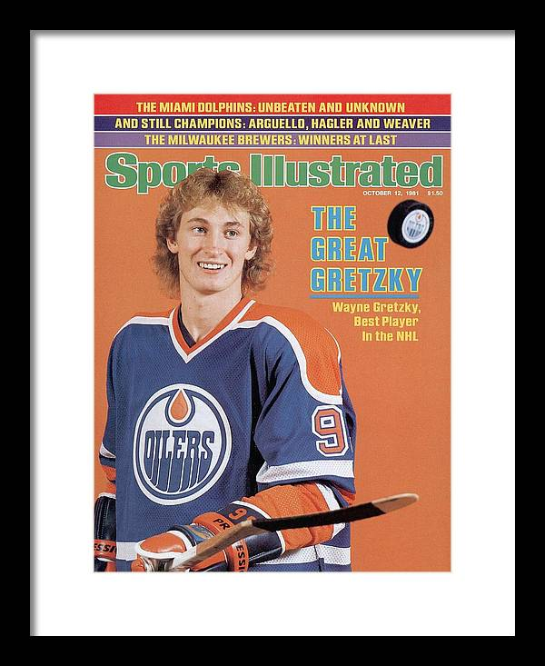 Magazine Cover Framed Print featuring the photograph Edmonton Oilers Wayne Gretzky Sports Illustrated Cover by Sports Illustrated