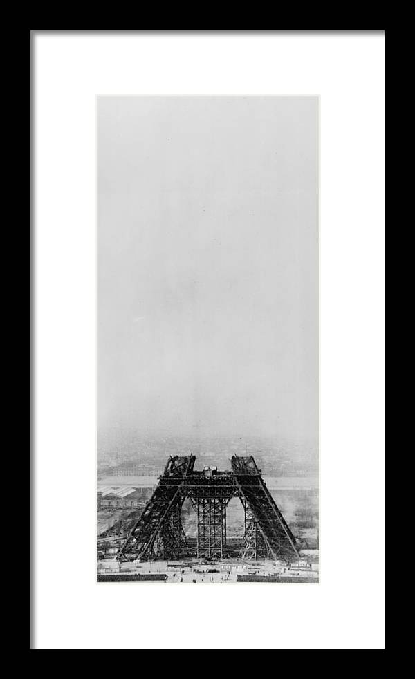 1880-1889 Framed Print featuring the photograph Eiffel Construction 4 by Henry Guttmann Collection
