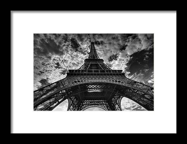 Arch Framed Print featuring the photograph Eiffel Tower by Allen Parseghian
