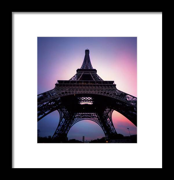 Arch Framed Print featuring the photograph Eiffel Tower At Sunset by Zeb Andrews