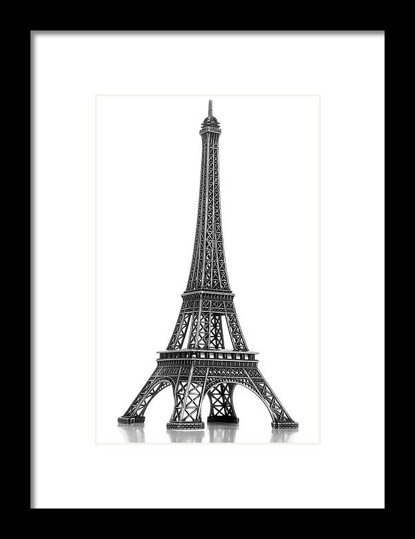 Architectural Model Framed Print featuring the photograph Eiffel Tower by Jamesmcq24