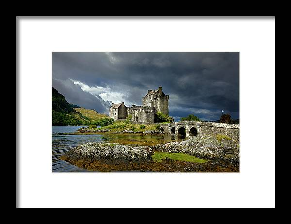Outdoors Framed Print featuring the photograph Eilean Donan Castle, Scotland by Daryl Benson