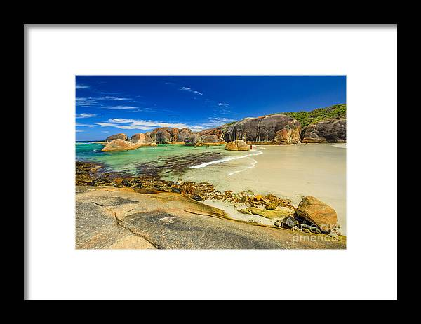Western Australia Framed Print featuring the photograph Elephant Cove Beach by Benny Marty