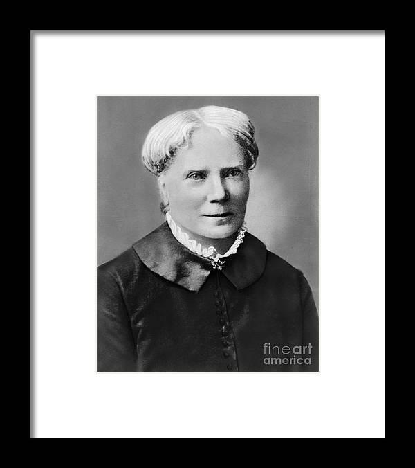 Elizabeth Blackwell - Physician Framed Print featuring the photograph Elizabeth Blackwell by Bettmann