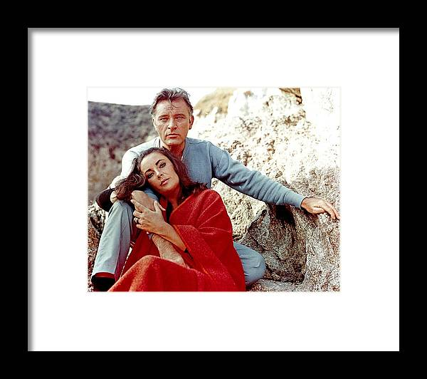 Actor Framed Print featuring the photograph Elizabeth Taylor And Richard Burton On by Api