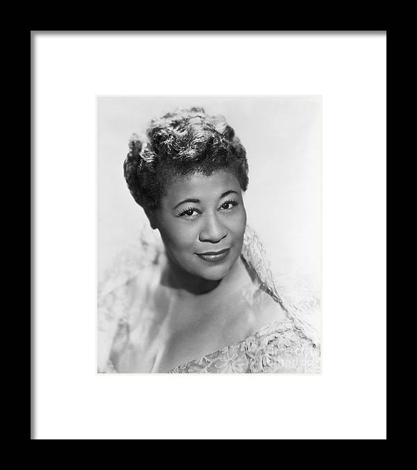 People Framed Print featuring the photograph Ella Fitzgerald by Bettmann