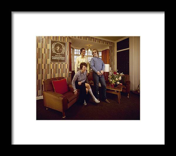 Singer Framed Print featuring the photograph Elton John At Home by John Olson