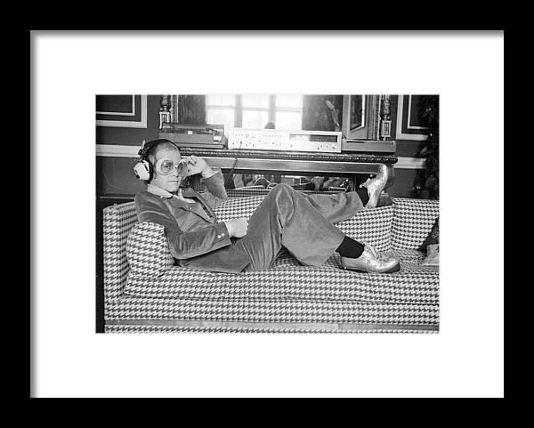 Elton John Framed Print featuring the photograph Elton John by D. Morrison