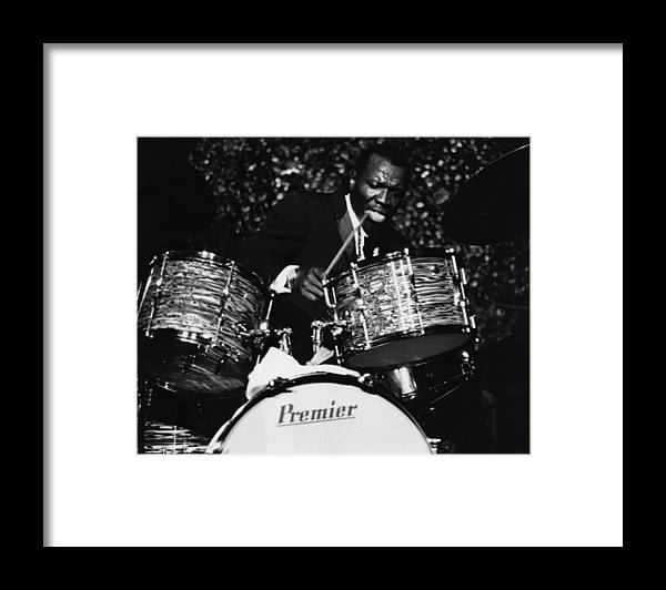 Concert Framed Print featuring the photograph Elvin Jones On Drums by David Redfern
