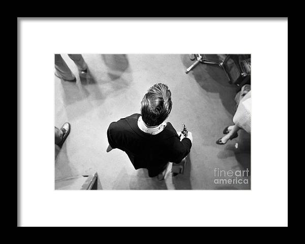 Singer Framed Print featuring the photograph Elvis Backstage by Alfred Wertheimer