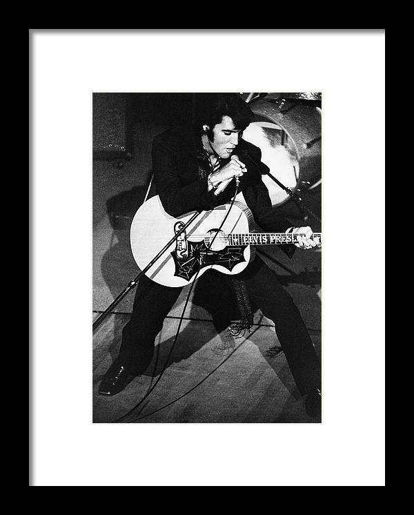 Elvis Presley Framed Print featuring the photograph Elvis In Vegas by Archive Photos