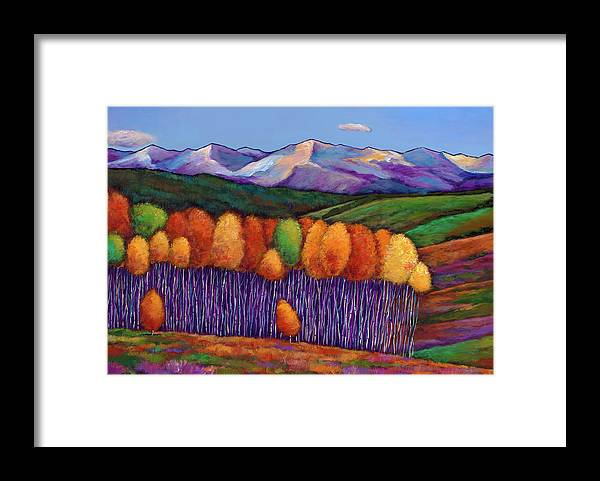Aspen Trees Framed Print featuring the painting Elysian by Johnathan Harris