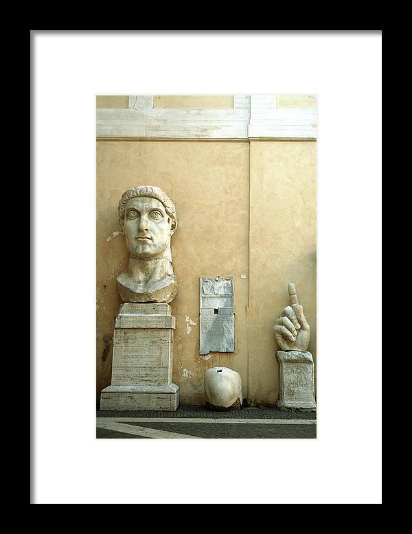 Statue Framed Print featuring the photograph Emperor Constantine by Manuelvelasco