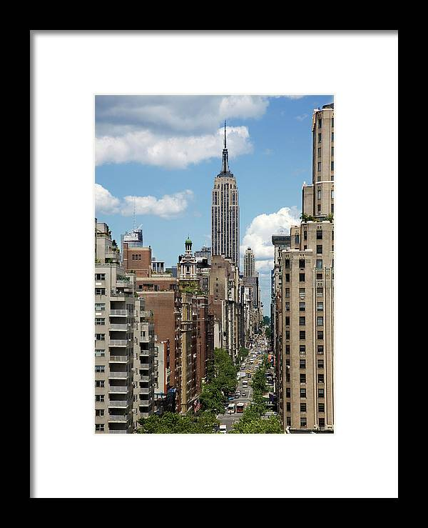 City Framed Print featuring the photograph Empire State Building by David Sacks
