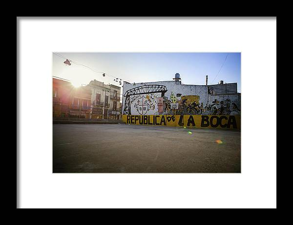 Empty Framed Print featuring the photograph Empty Soccer Field In La Boca by Just One Film