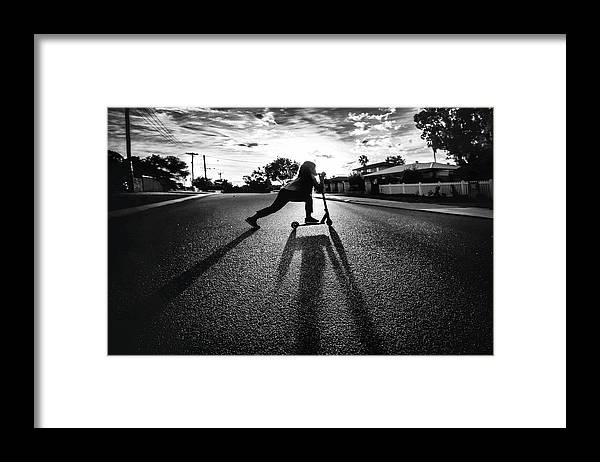 Street Framed Print featuring the photograph Empty Street Series I by Despird Zhang