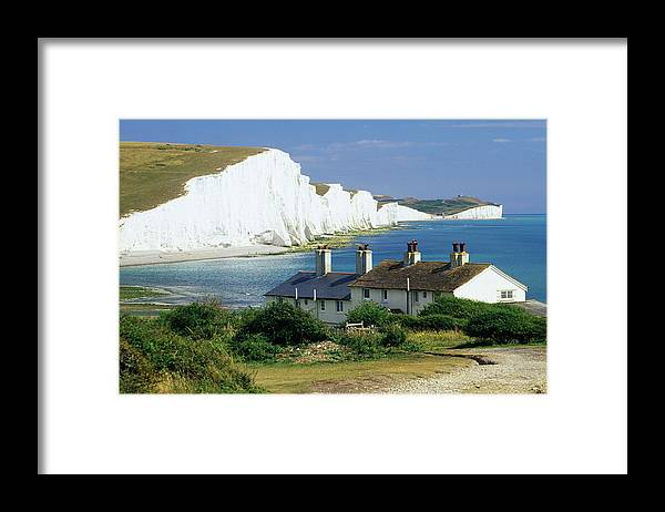 Scenics Framed Print featuring the photograph England, Sussex, Seven Sisters Cliffs by David C Tomlinson