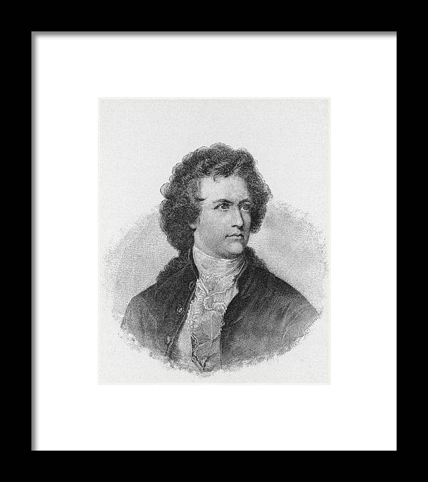 Engraving Framed Print featuring the photograph Engraving Of Johann Wolfgang Von Goethe by Kean Collection