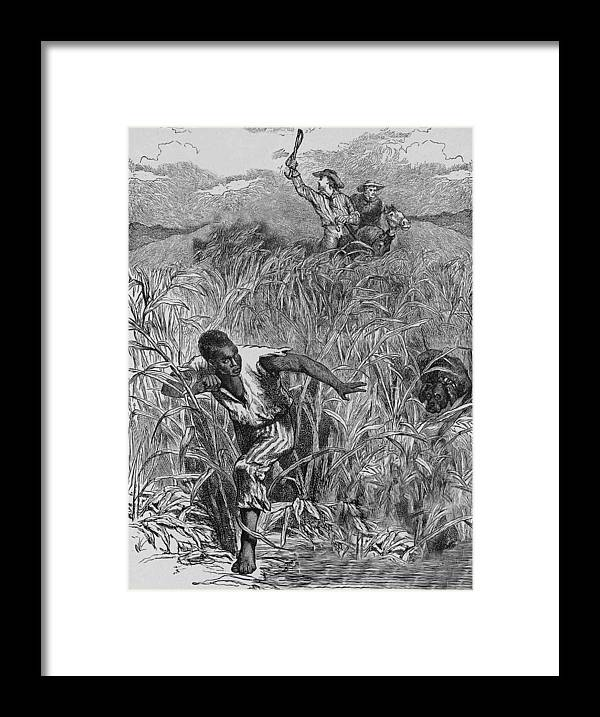 Engraving Framed Print featuring the photograph Engraving Of Slave Escape, Mid-19th by Kean Collection