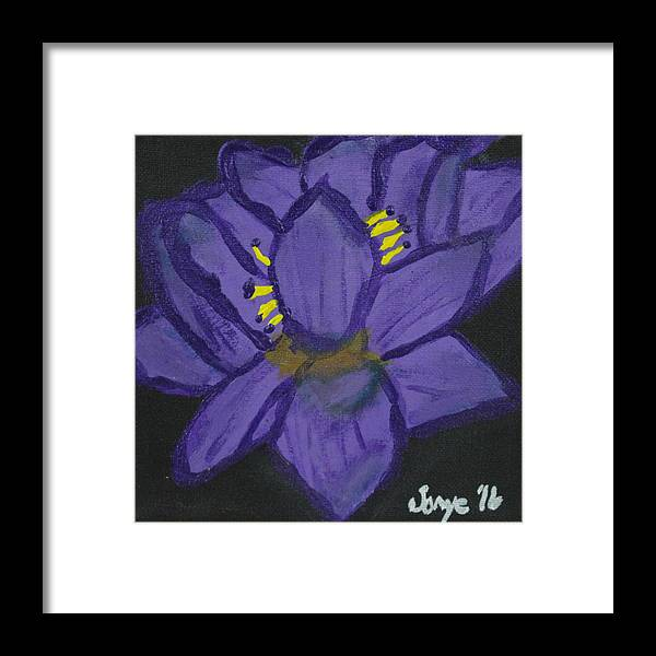 Abstract Framed Print featuring the painting Enlighten by Sonye Locksmith
