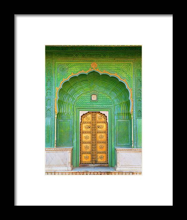Tranquility Framed Print featuring the photograph Entrance To Palace by Grant Faint