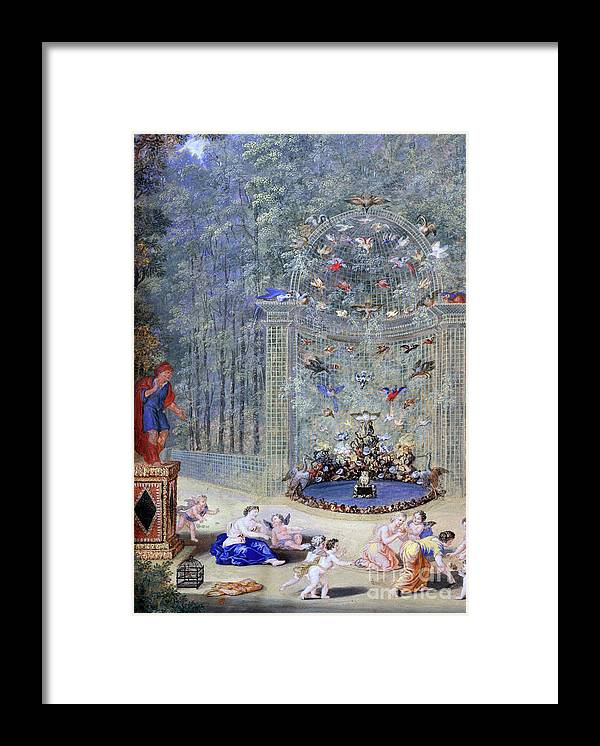 Gouache Framed Print featuring the drawing Entrance To The Maze At Versailles by Print Collector