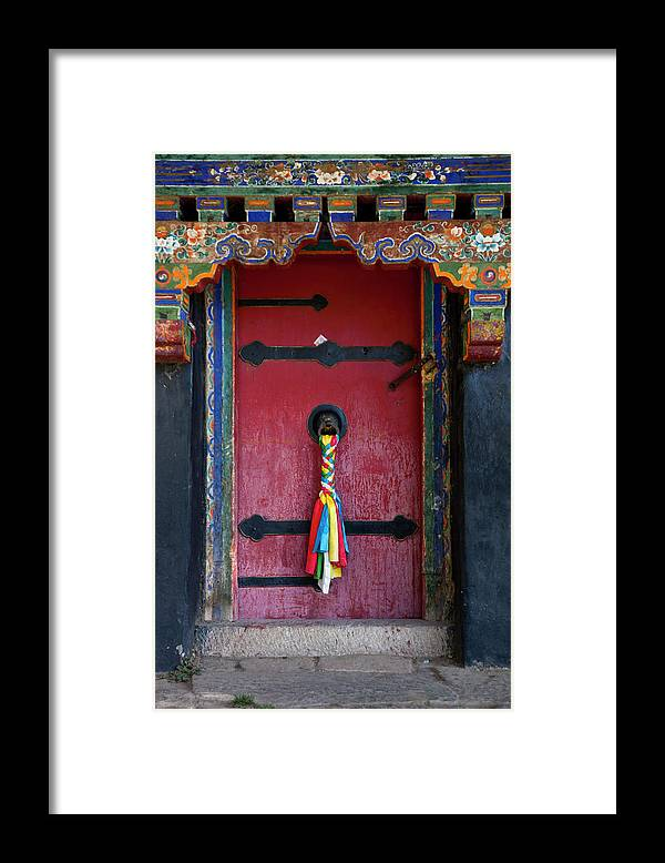 Chinese Culture Framed Print featuring the photograph Entrance To The Tibetan Monastery by Hanhanpeggy