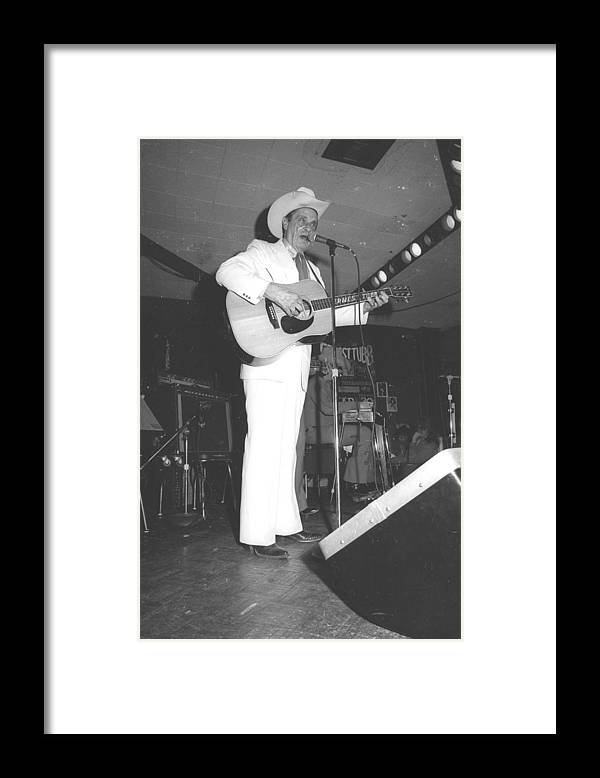 Performance Framed Print featuring the photograph Ernest Tubb At The Palomino by Michael Ochs Archives