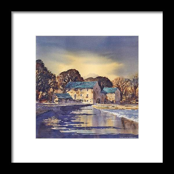 Ireland Framed Print featuring the painting Evening At Mullins Mill, Kilkenny by Roland Byrne
