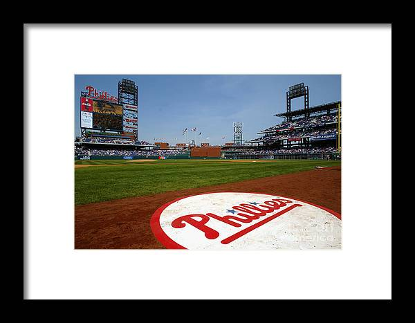 Scenics Framed Print featuring the photograph Expos V Phillies by Jamie Squire