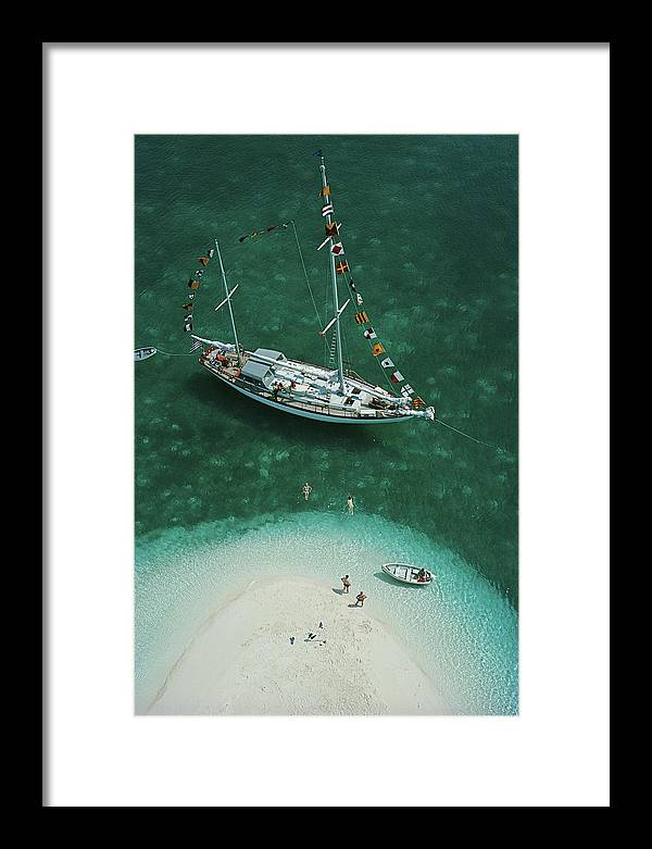 People Framed Print featuring the photograph Exuma Holiday by Slim Aarons