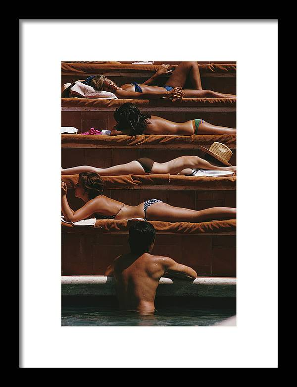 Three Quarter Length Framed Print featuring the photograph Eye Of The Beholder by Slim Aarons