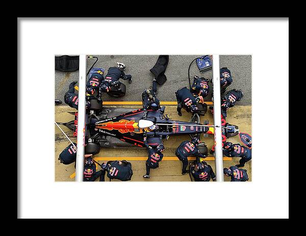 Catalonia Framed Print featuring the photograph F1 Testing In Barcelona - Day Two by David Ramos