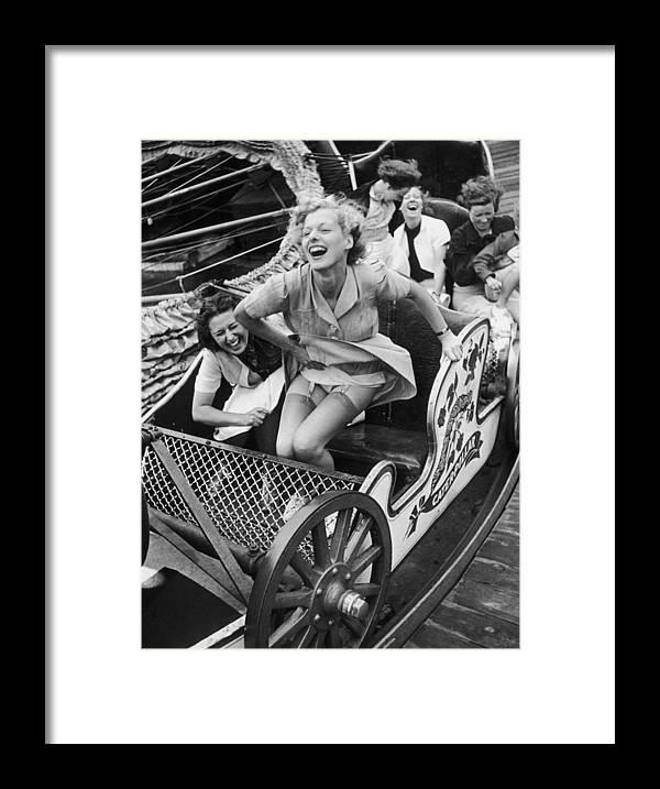 People Framed Print featuring the photograph Fair Fun by Kurt Hutton