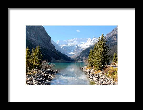 Tranquility Framed Print featuring the photograph Fall At Lake Louise , Alberta, Canada by Cynthia Russell Photography