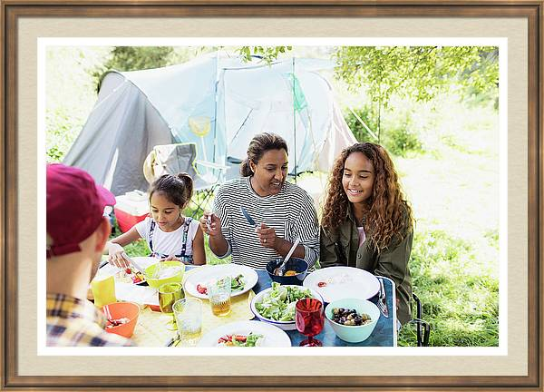 Family Enjoying Lunch Table by Caia Image/science Photo Library