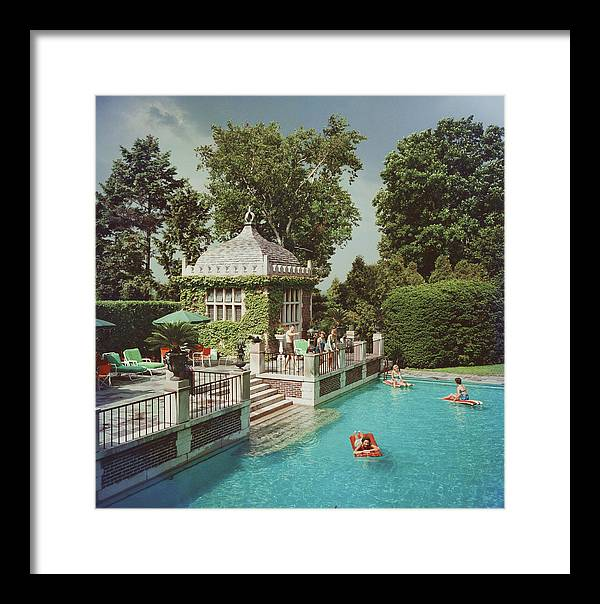 Swimming Pool Framed Print featuring the photograph Family Pool by Slim Aarons