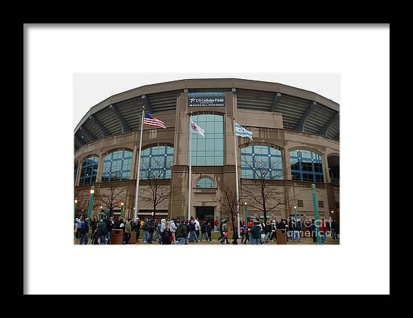 American League Baseball Framed Print featuring the photograph Fans Enter Ball Park by Jonathan Daniel