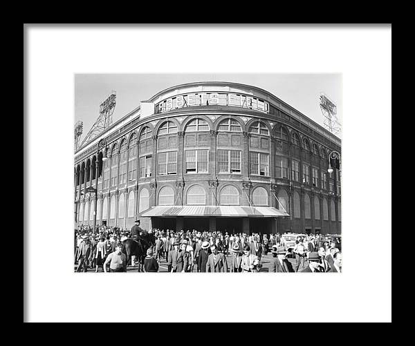 Following Framed Print featuring the photograph Fans Leave Ebbets Field by David E. Scherman