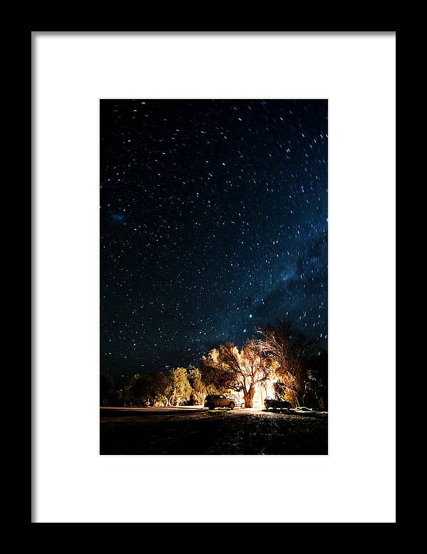 Northern Cape Province Framed Print featuring the photograph Farm House And Milky Way by Subman