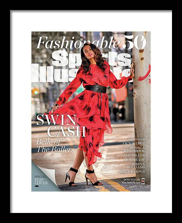 Magazine Cover Framed Print featuring the photograph Fashionable 50 New York Liberty Forward Swin Cash Sports Illustrated Cover by Sports Illustrated