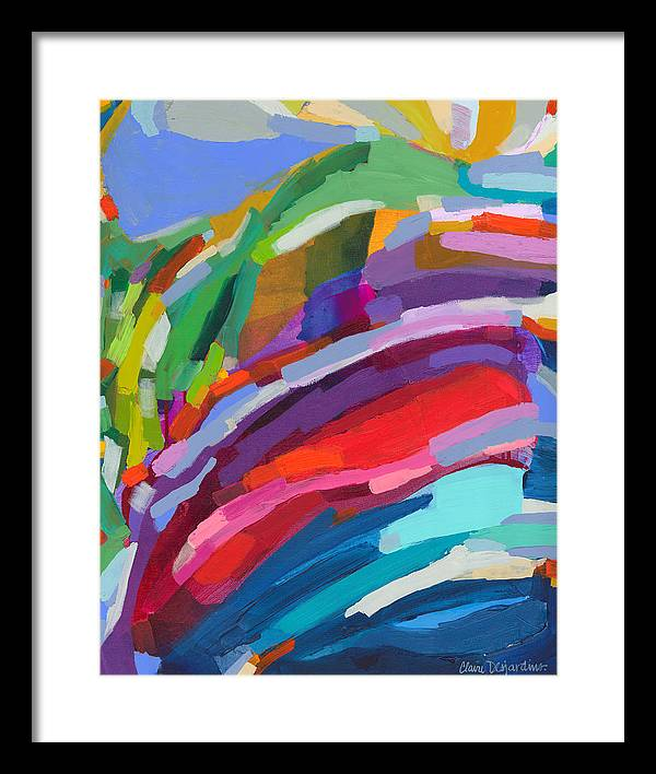 Abstract Framed Print featuring the painting Felicity by Claire Desjardins
