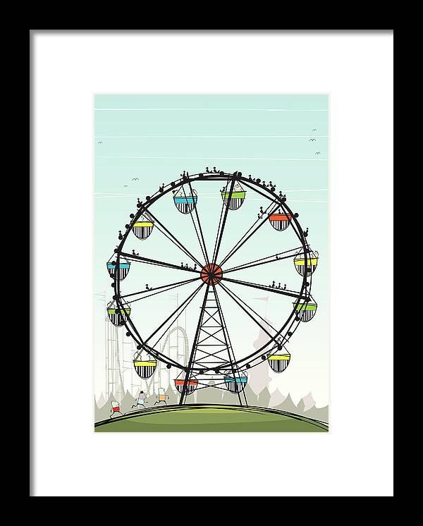 Grass Framed Print featuring the digital art Ferris Wheel by Jcgwakefield